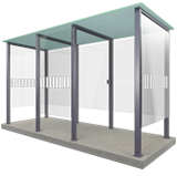 For smokers an ideal smoking shelter outside.... Choose between type 3 or 3 XL versions... - 10 people