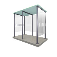 Our Smoking Shelter Type 2 and 2XL - 6 people