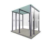 Smoking Shelter Type 2XL - 8 people