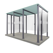 Smoking Shelter Type 3XL - 14 people