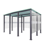 Outdoor Smoking Area Type 6 - 20 people